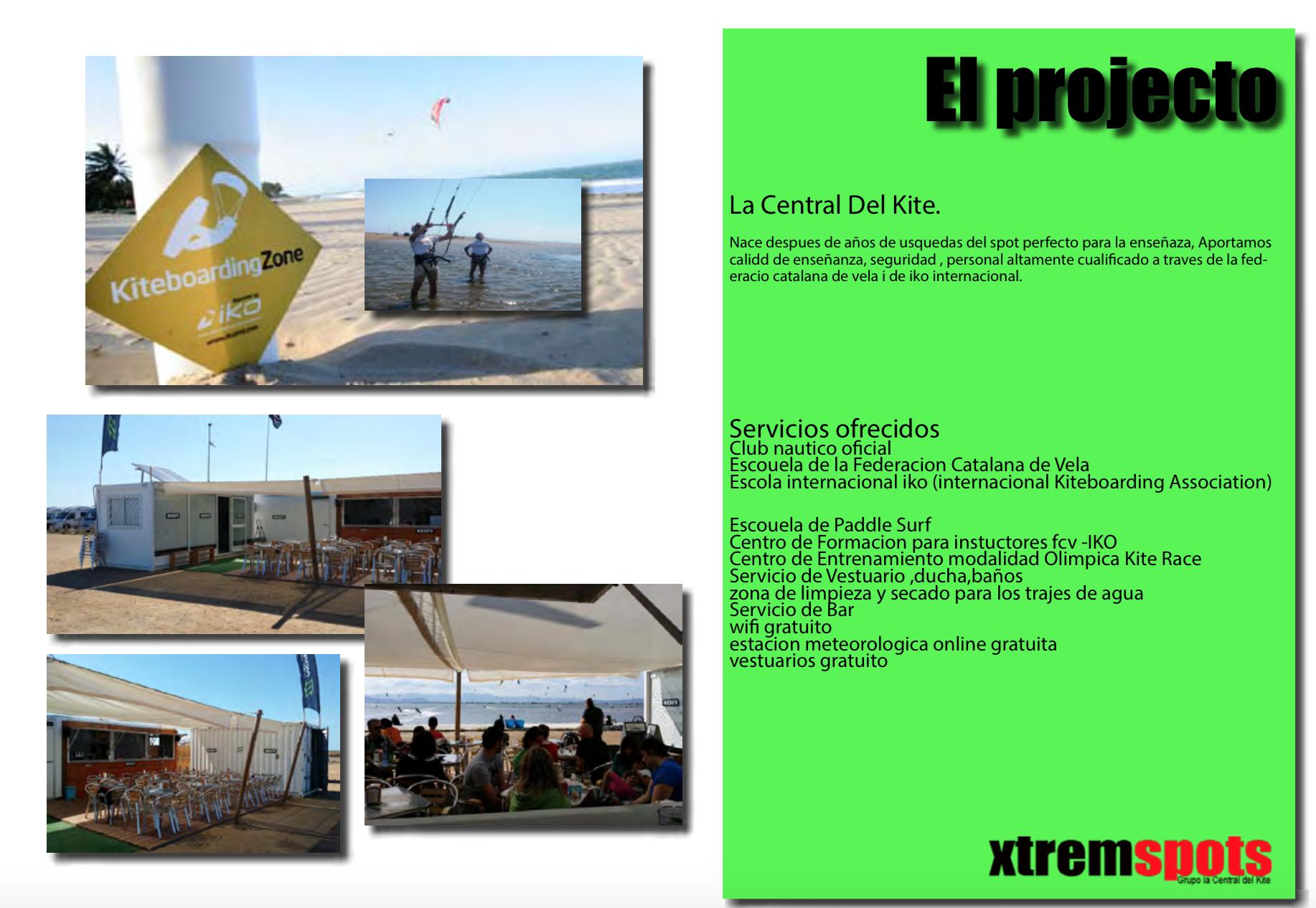 el proyecto de kitesurf